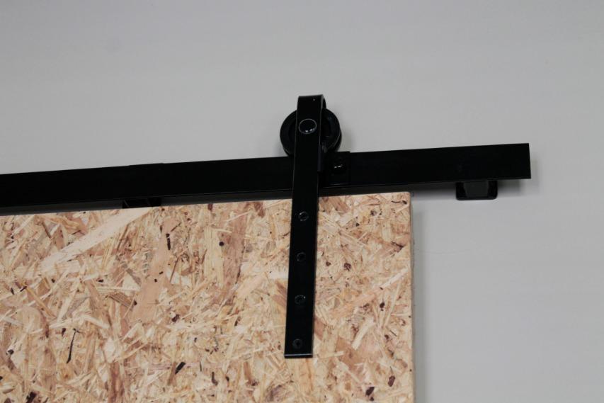 Farming sliding door with selfmade slide rails