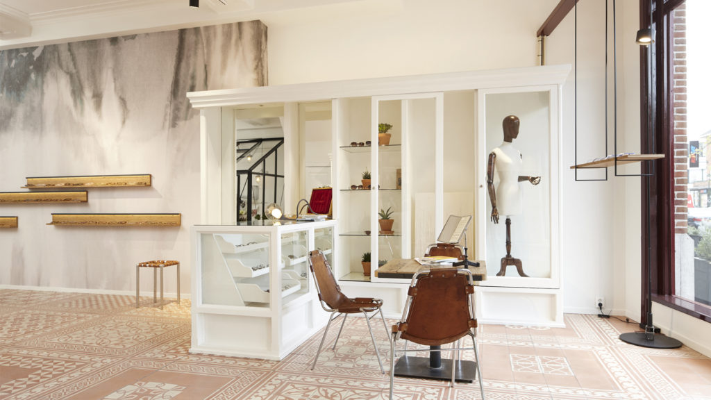 Right: hanging cabinets from the Possibility collection made of bamboo