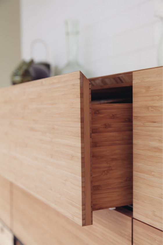 drawers made with a push to open system